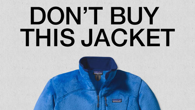Patagonia campaign - don't buy this jacket - shock advertising example