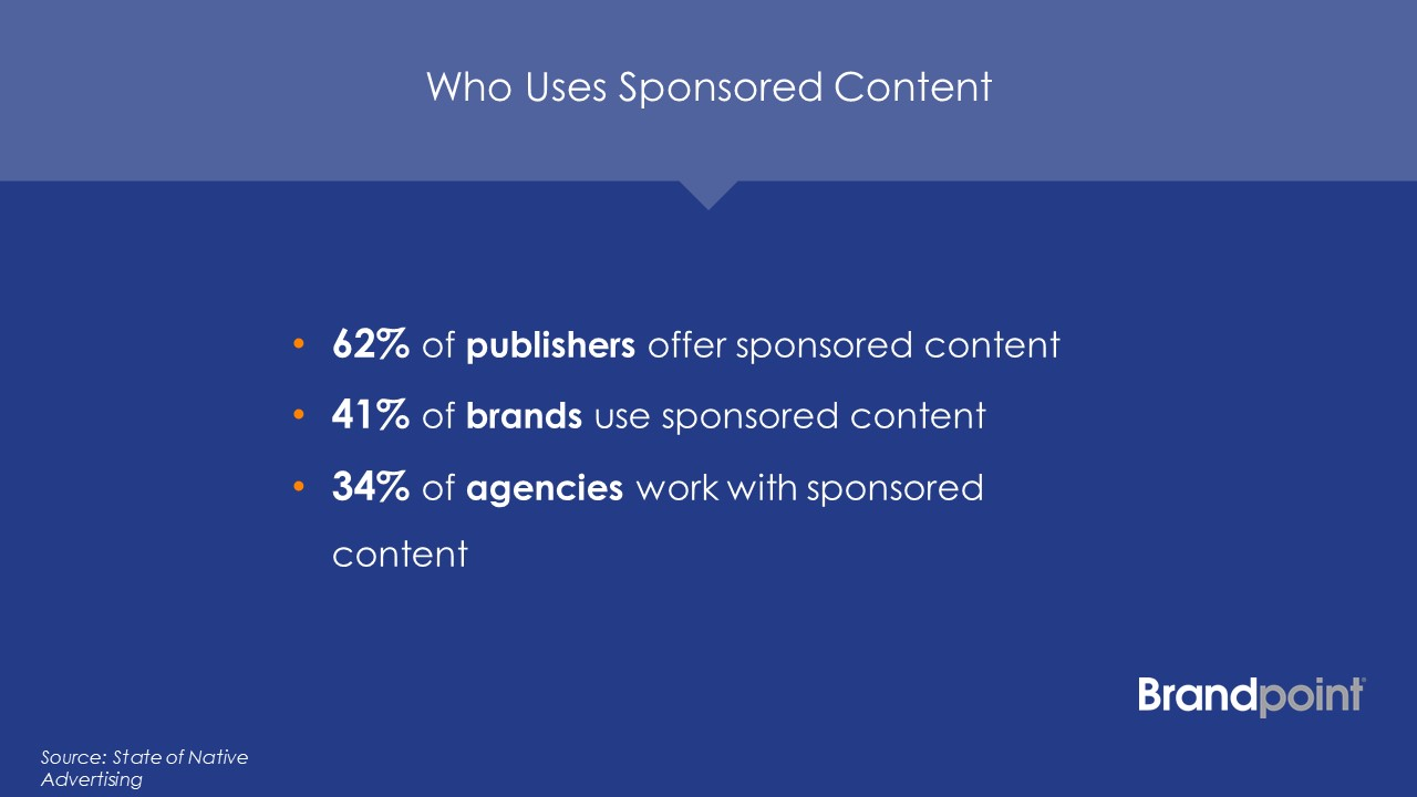 Who uses sponsored content