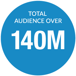 Total audience over 140 million