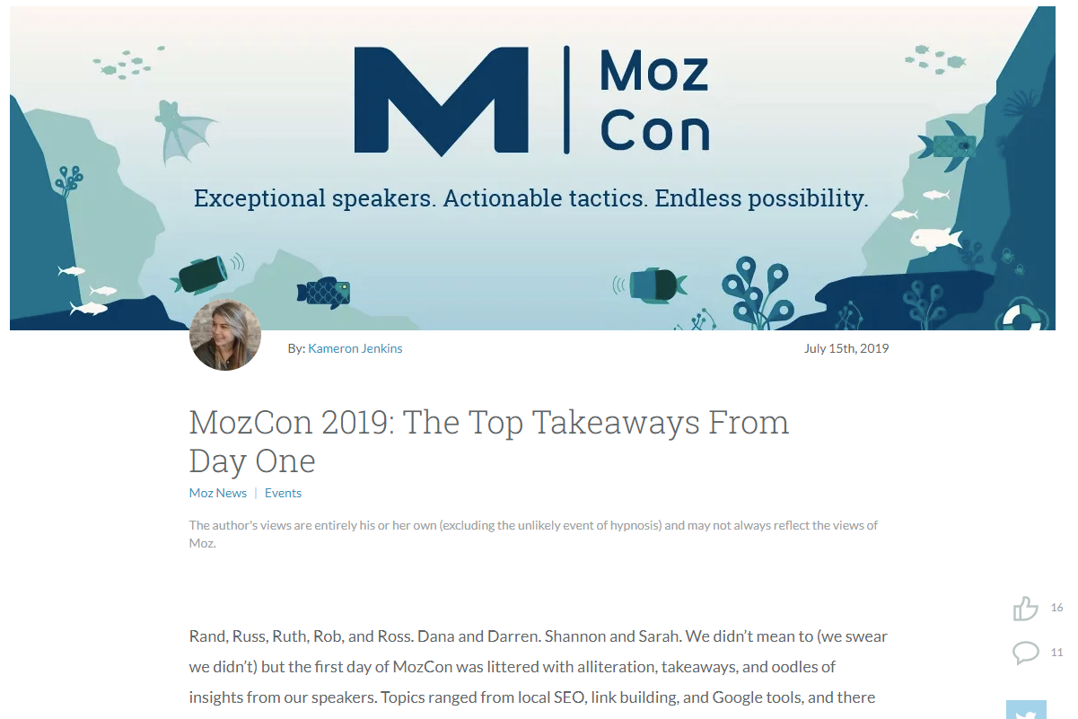 takeaways from moz con 2019
