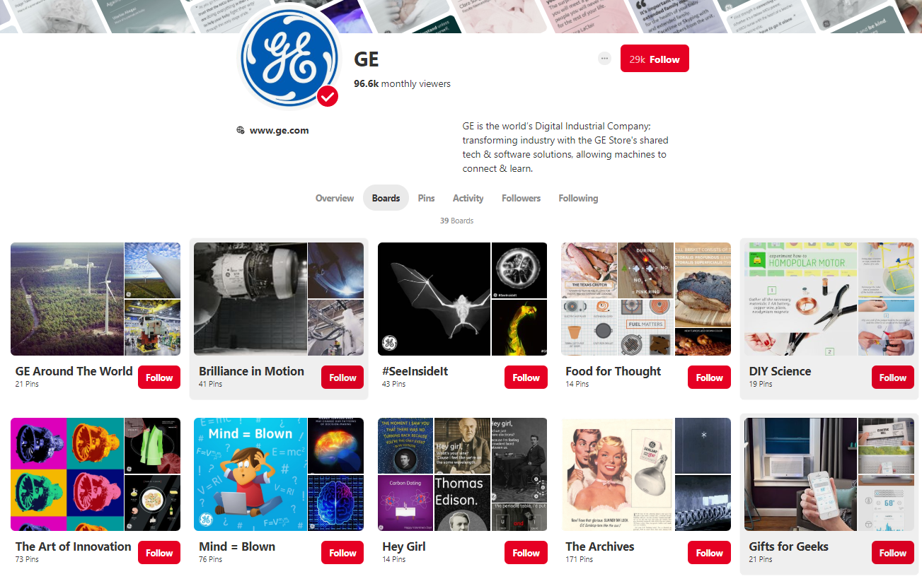 general electric pinterest