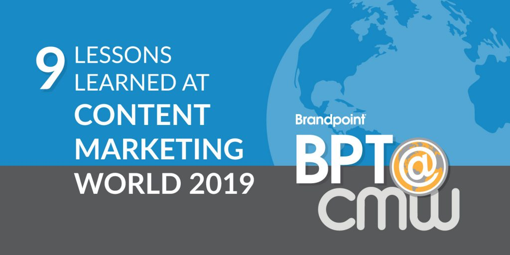 content marketing world 2019 takeaways