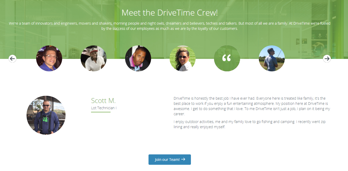 drivetime careers page