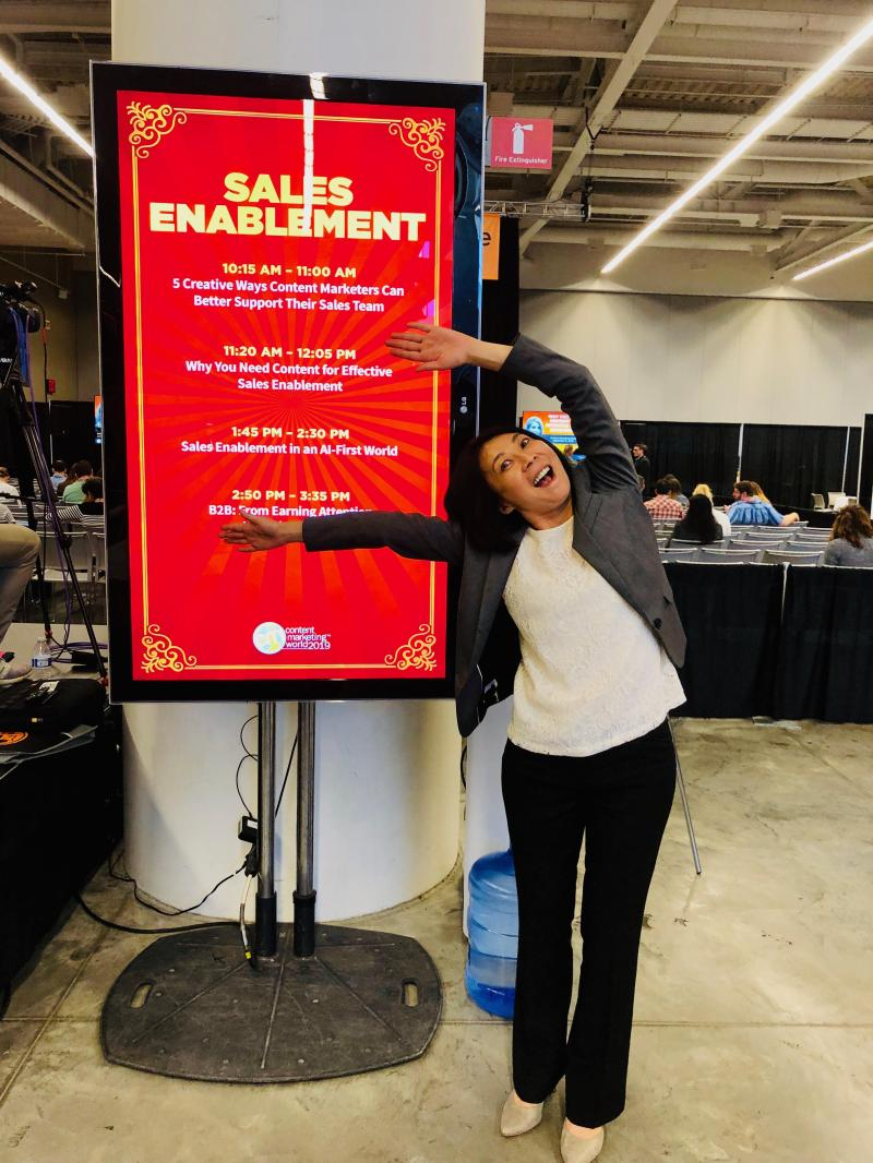 Pam Didner at Content Marketing World