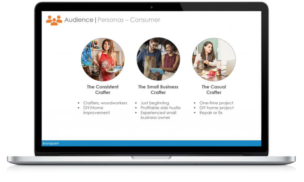 Example audience analysis slide from Brandpoint strategy