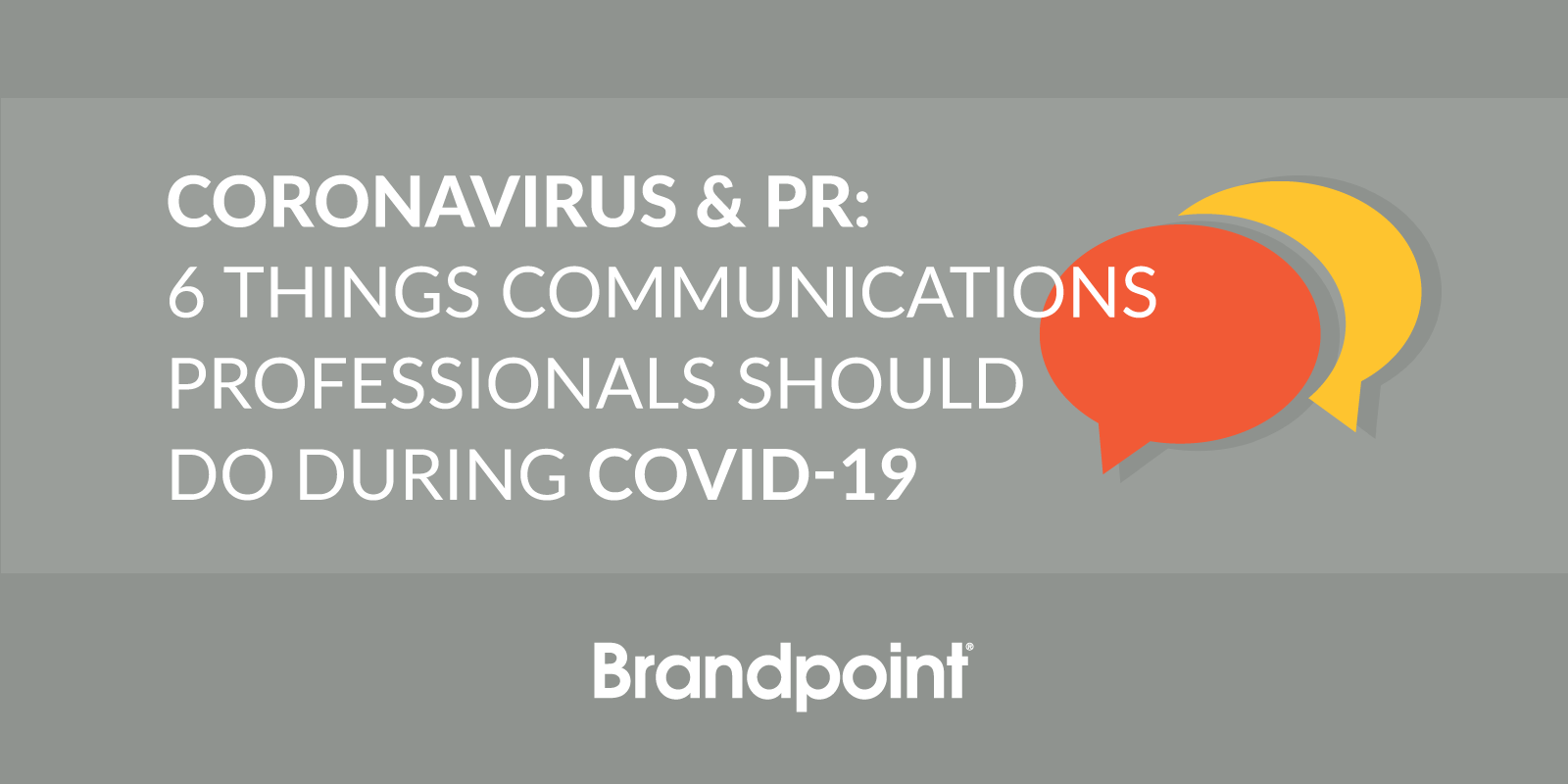 PR Communications and COVID-19
