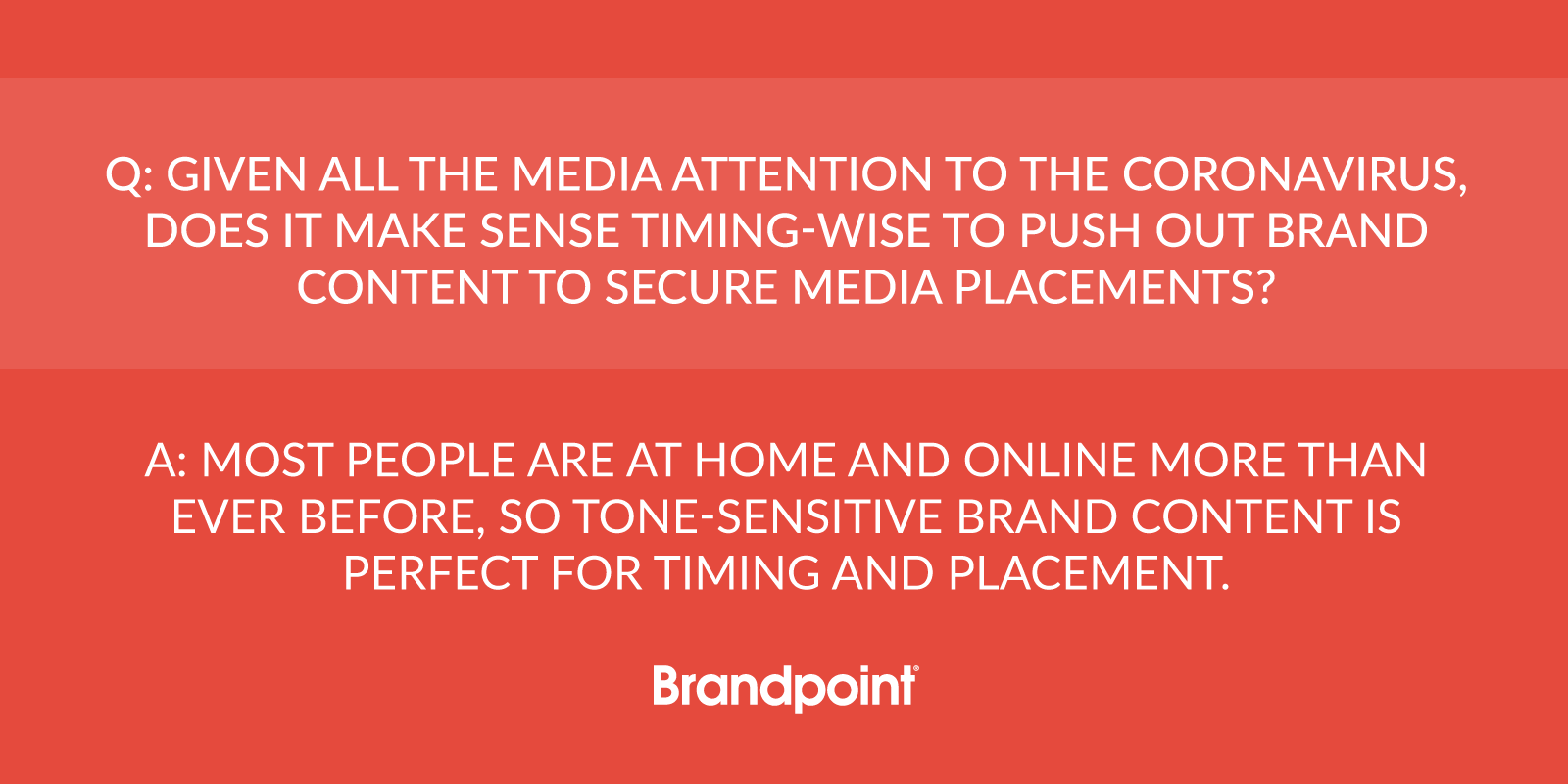 Timing for branded content