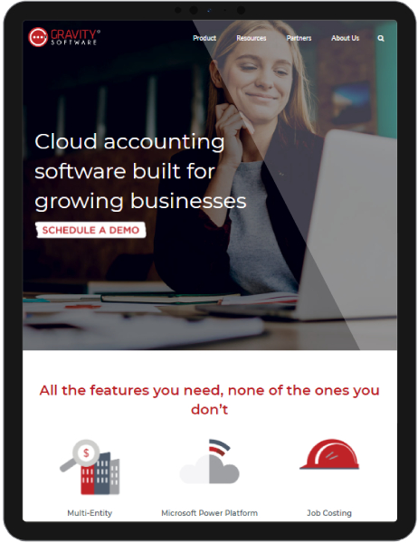 example client website on tablet