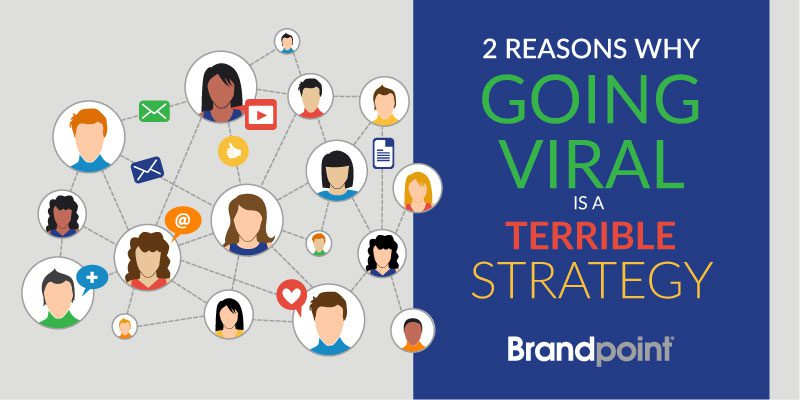 Going Viral is a Terrible Strategy